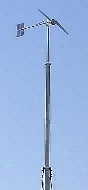 Самодельный ветряк с лопастями из алюминиевой трубы с самодельным генератором