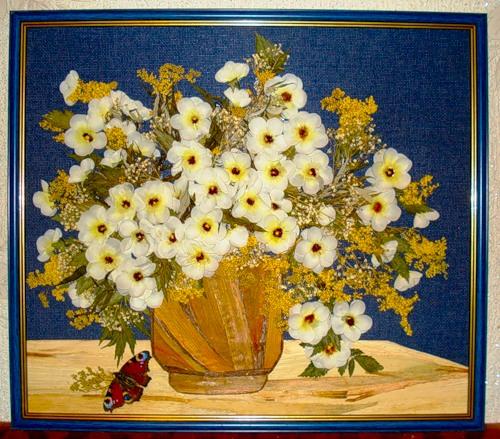 Картины из сухих цветов – стильно и прибыльно