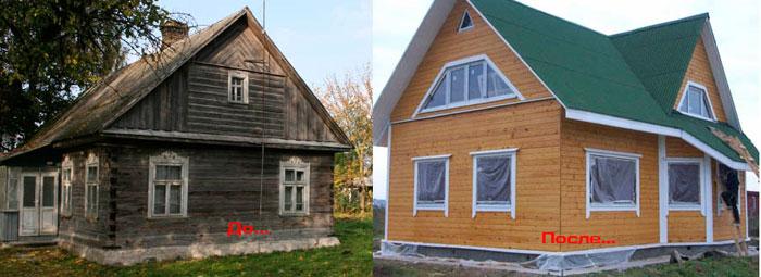 Перевозка деревянных домов из вымирающих деревень в город.