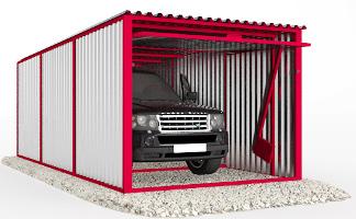Производство гаражей пеналов (ракушек) из профнастила