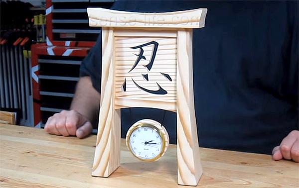 Как сделать красивые часы в азиатском стиле