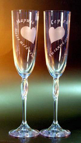 Украшение бутылок и бокалов к празднику