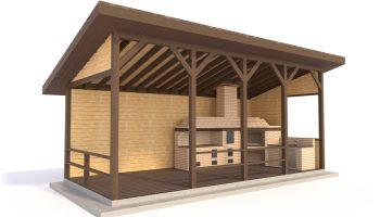 Как начать строительство деревянной беседки