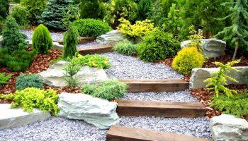 Садовая лестница как элемент ландшафтного дизайна
