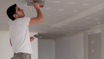 Как подшить потолок гипсокартоном — пошаговая инструкция