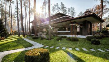 Сочетаемость ландшафтного дизайна с интерьером и экстерьером загородного дома