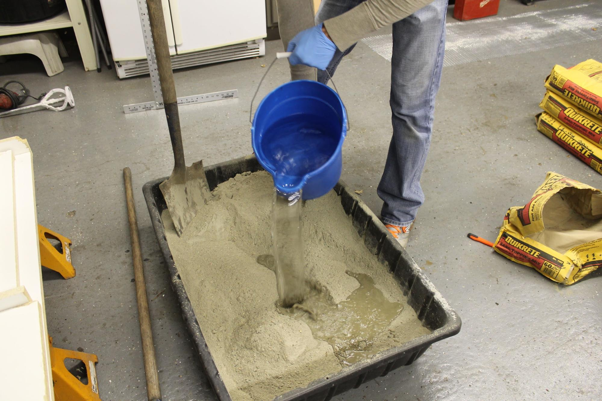 как приготовить бетонную смесь вручную