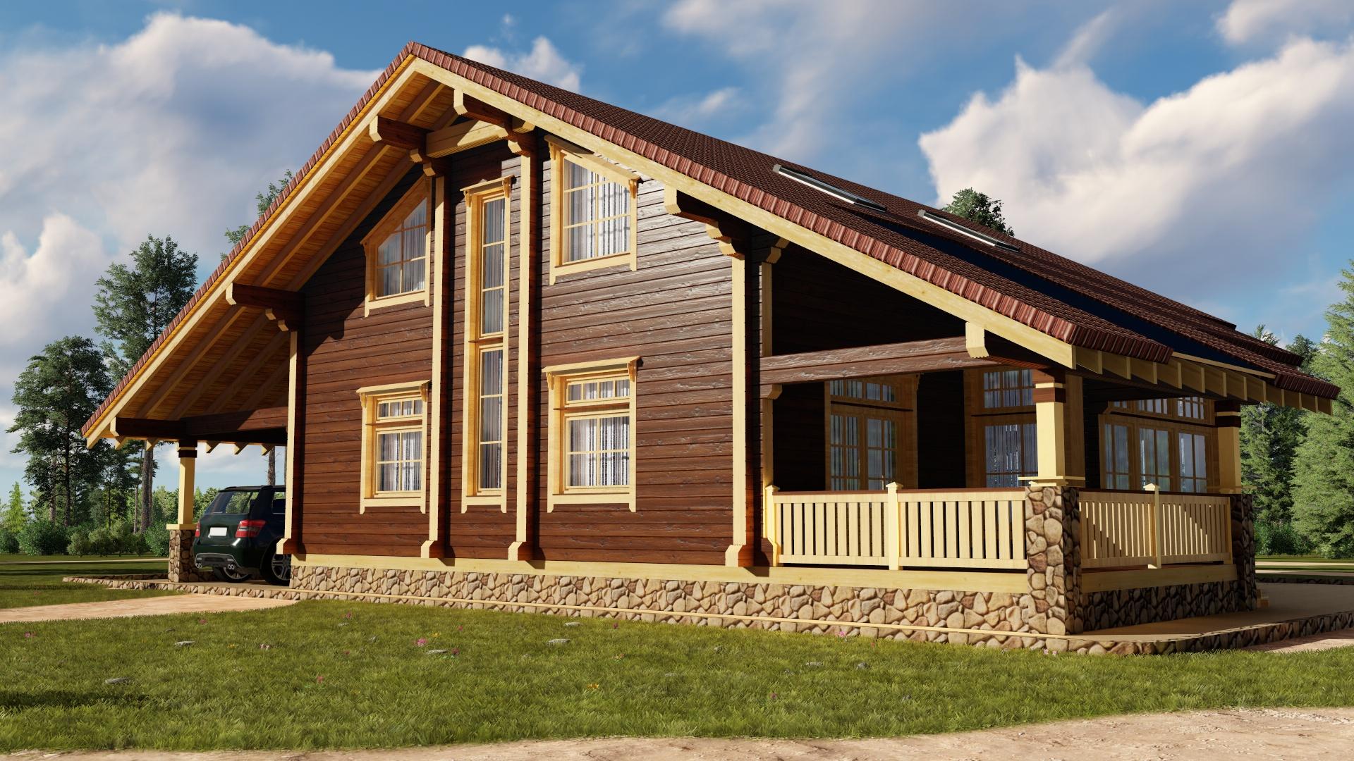 брусовые красивые дома фото всё чаще оказывался