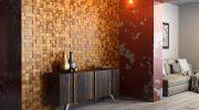 Оформление стен — ДСП и деревянная облицовка или 3D-панели