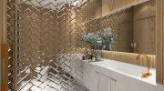 Как сэкономить на отделке ванной с помощью листового зеркала