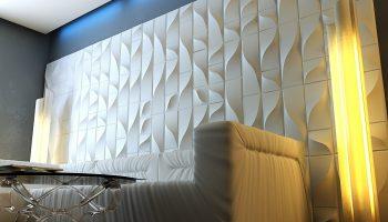 Виды 3D панелей для стен в интерьере квартиры