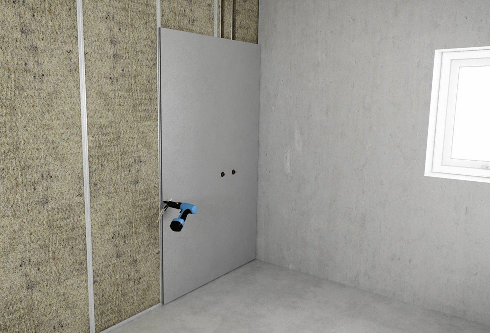 выравниваем стены гипсокартоном без каркаса
