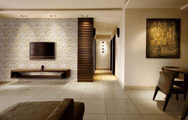 Декор стен керамической плиткой