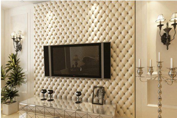 Декор стен кожей