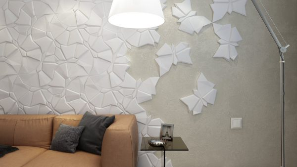 Декор стен пластиком