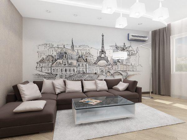 Декор стен росписью