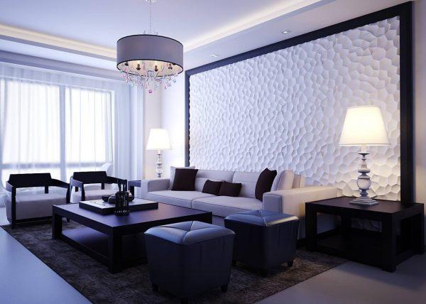 Декор стен с 3Д панелью