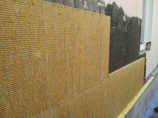 Утепление стен базальтовыми плитами