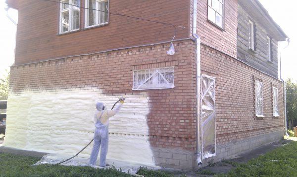 Утепление стен в кирпичном доме