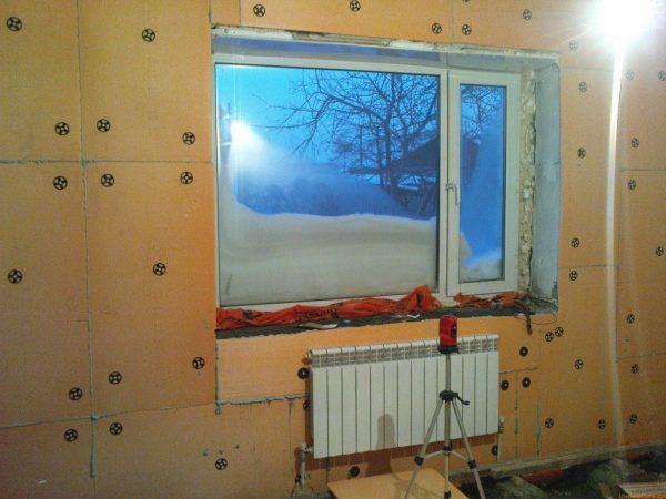 Утепление стен внутри