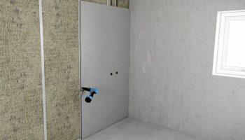 Как приклеить гипсокартон на неровную стену