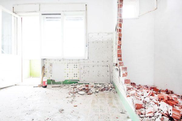 Фото демонтажа стены
