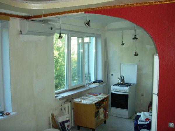 Снос стены между кухней и комнатой