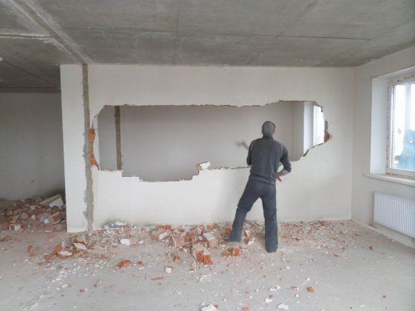 Снос стены в квартире