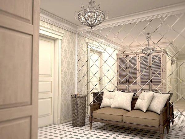 Зеркальная стена в квартире