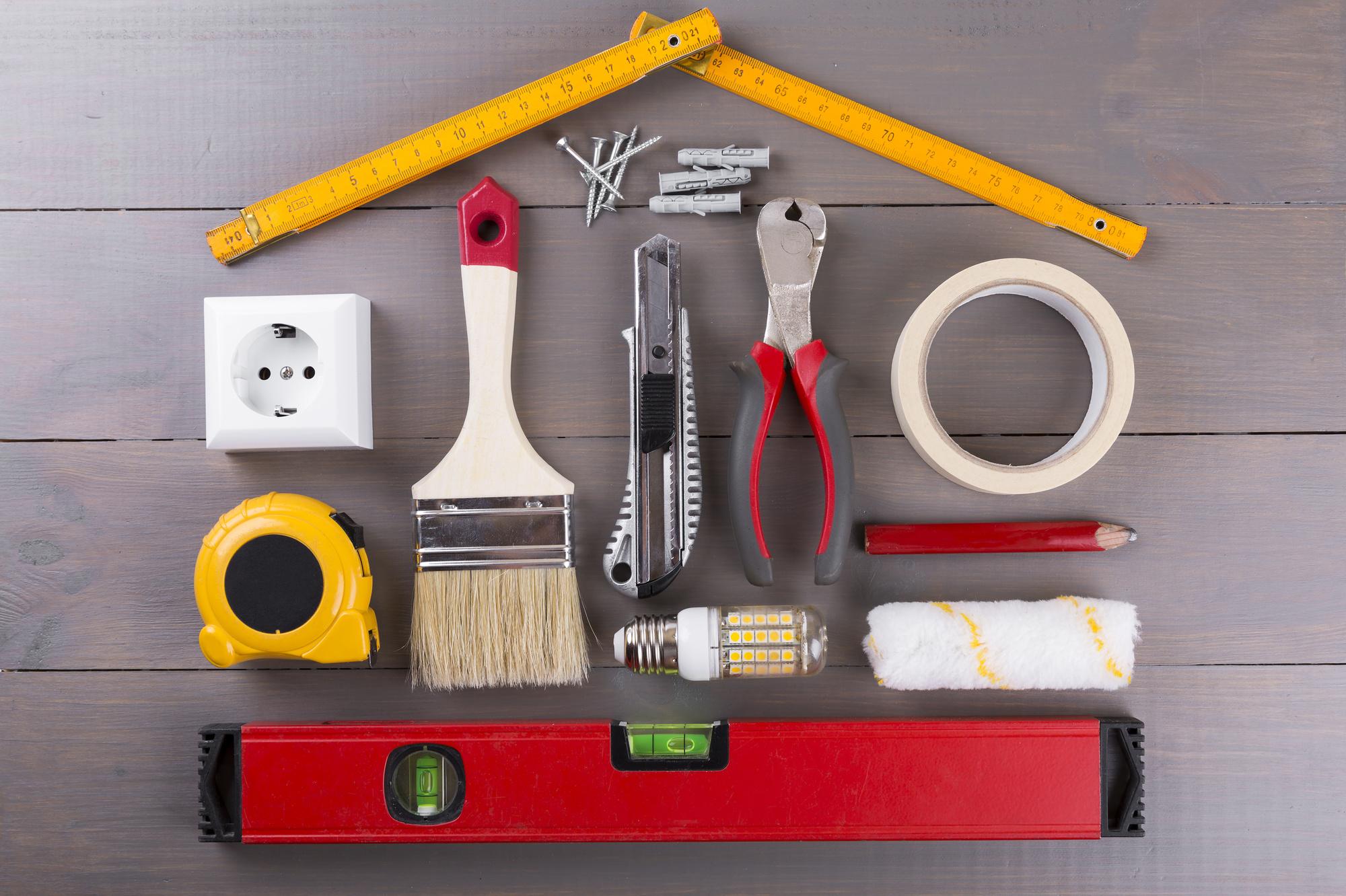 Картинка строительных инструментов и материалов