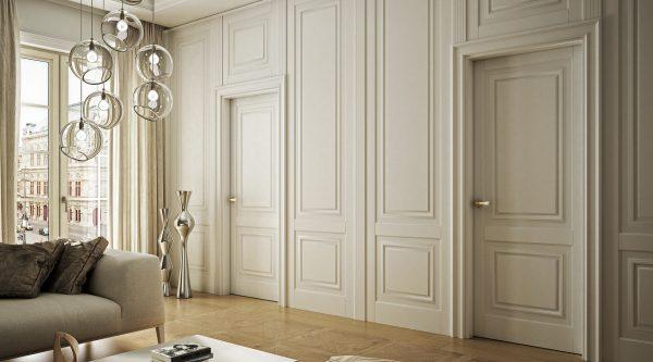 Белые деревянные панели