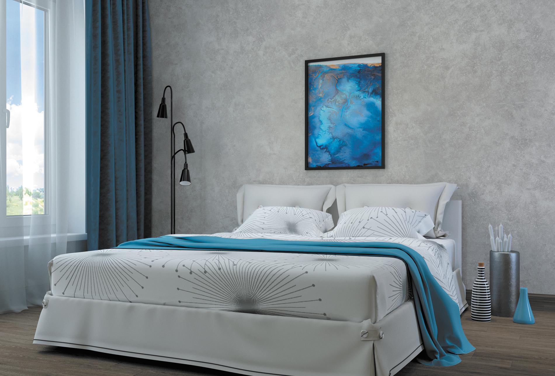 Декоративная штукатурка для спальни фото