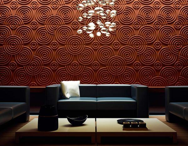 Интерьер с декоративными панелями