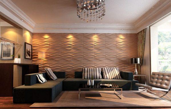 Декоративные панели в гостиной
