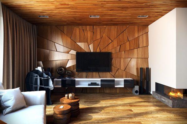 Фото интерьера с деревянными панелями
