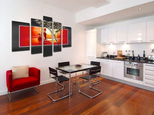 Фото картины на кухне