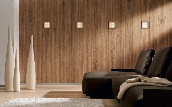 Отделка стены деревянными панелями