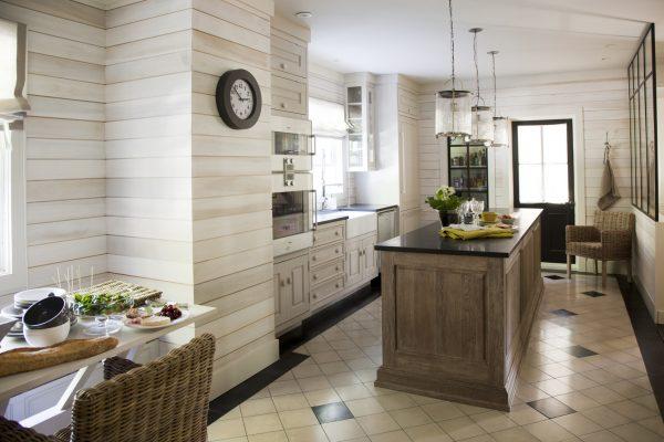 Фото вагонки на кухне