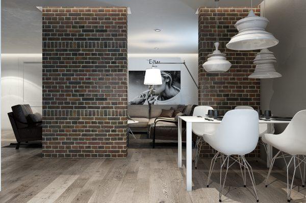 Зонирование пространства стеной