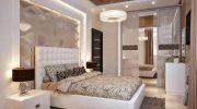 Как оформить и украсить стену в спальне над кроватью и напротив