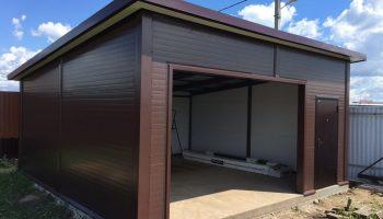 Как соорудить гараж своими руками на 4-х опорных столбах