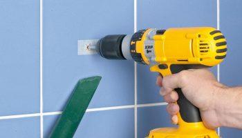Как просверлить отверстие в кафельное плитке в стене
