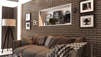 Варианты красивого оформления кирпичных стен в интерьере