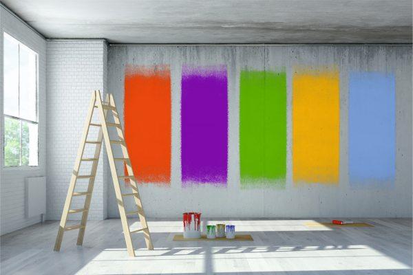 Алкидные краски на стене