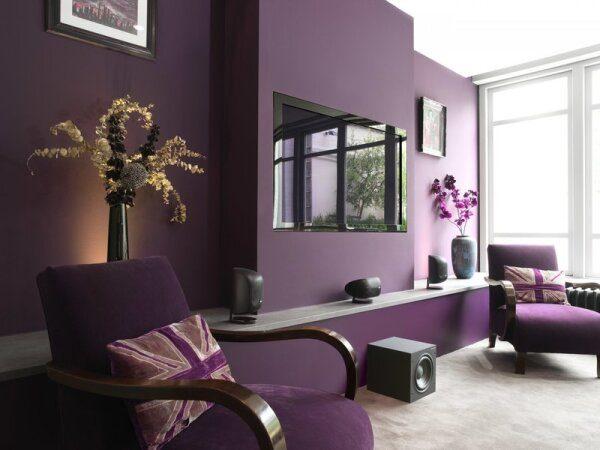 Краска на стенах в интерьере
