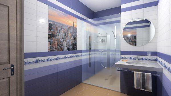 Зеркало на стене из панелей