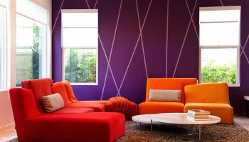 Покрашенные стены в интерьере разных комнат квартиры