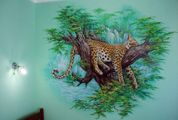 3Д рисунок на стене
