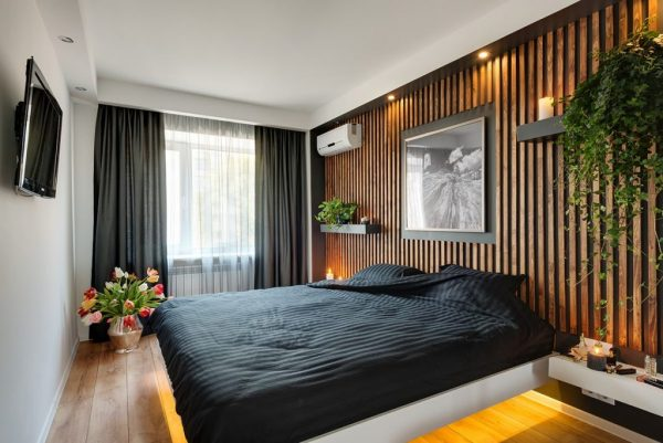 Вертикальные деревянные рейки