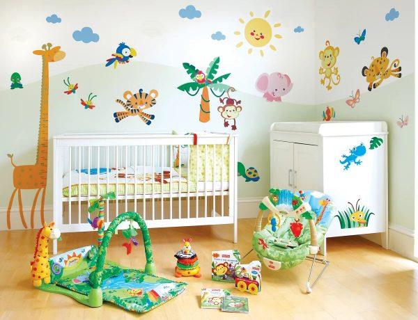 Детская комната с наклейками